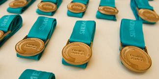 Siemens medals to be presented to the National finalists.