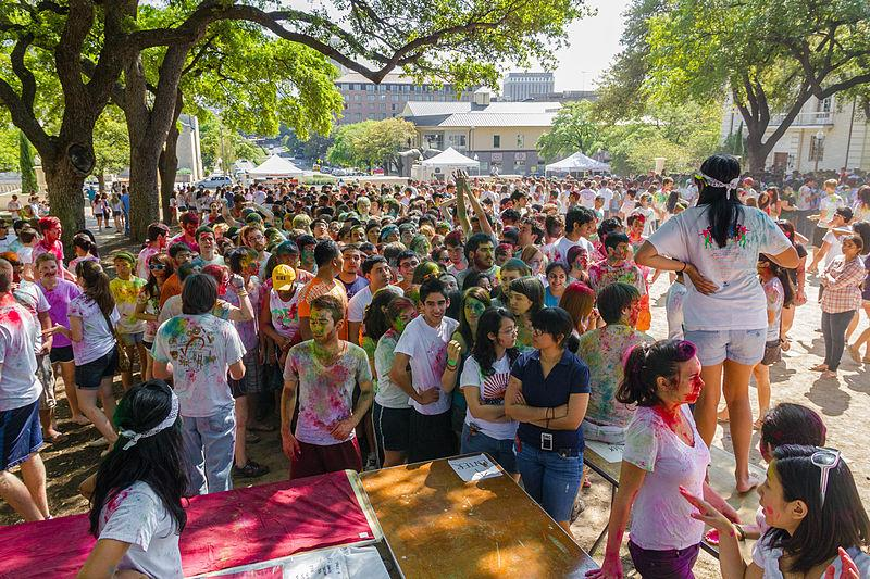 Students+at+the+University+of+Texas+at+Austin+celebrate+Holi+in+2012.+Photo+courtesy+of+Flickr+user+Karen+Dodia%2C+CC+BY+S.A.+2.0.