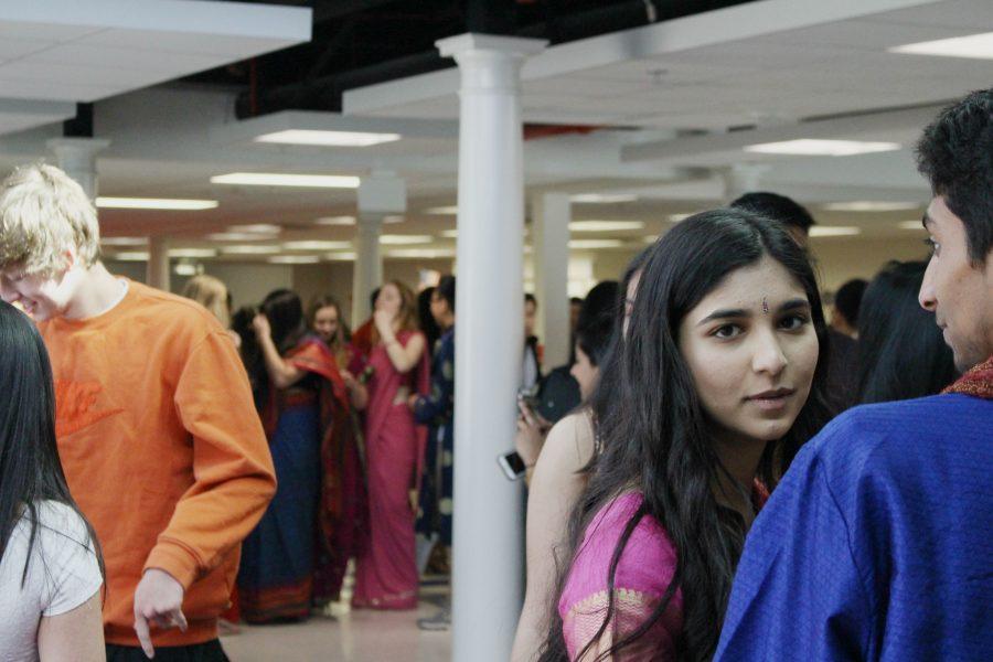 Senior Rayana Matin wears Indian clothing for International Day.