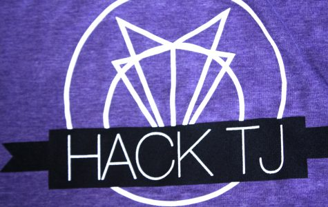 The 2017 Hack TJ t-shirts are given out during registration.