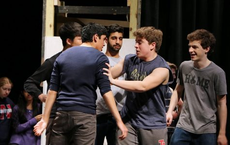 Cast members rehearse for