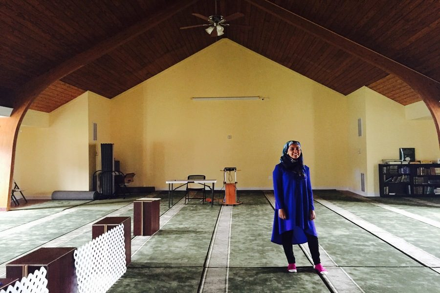 At McLean Islamic Center, Nawaz lectured about her family's past, working in the media industry, and her opinions on how to fight back against Islamophobia.