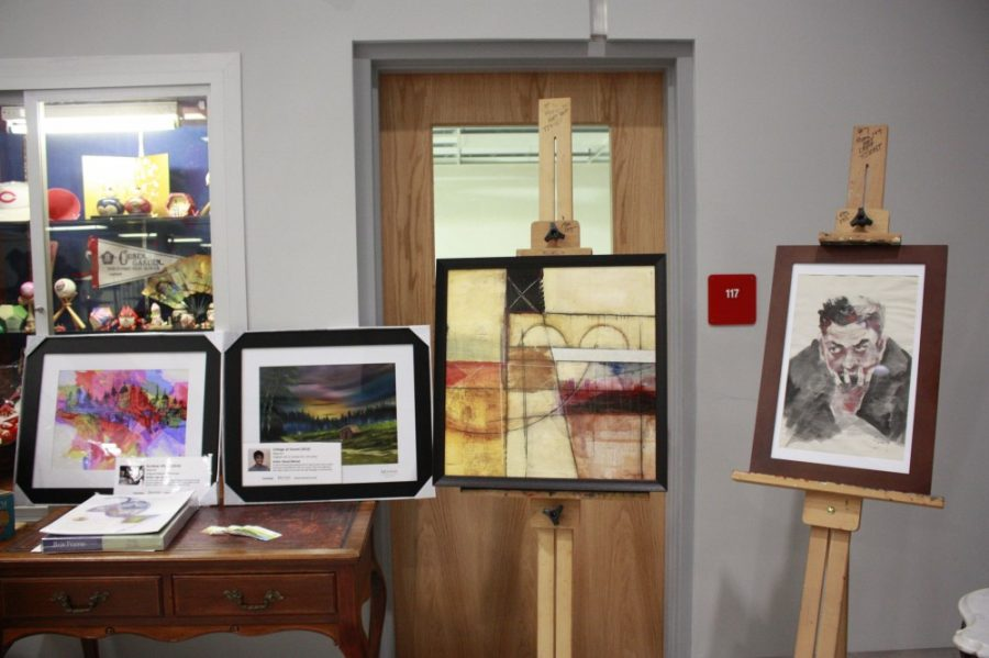 Donated art for the silent auction.