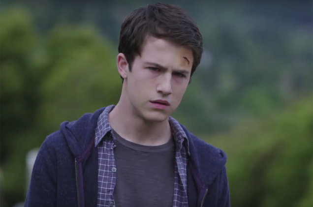 Clay Jensen in a scene from the trailer for the Netflix series