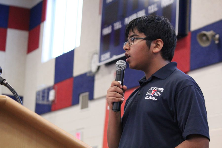 2020 Senator Ankit Gupta speaks about the experiences he had during his first year at Jefferson.