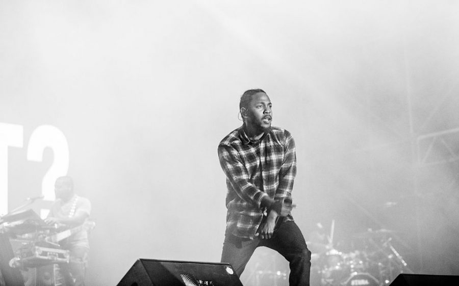 Kendrick Lamar performing on the Jimmy Fallon show.