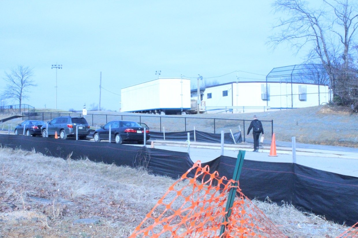 Students were notified that they would have classes in here in January 2014. The trailers have been in use ever since.