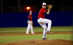 Relief pitcher Todd Hartman ends the game with a strong performance of 0 runs allowed for 2 innings. With strong efforts and determination by the players, Jefferson managed to defeat Falls Church 13-6. Photo Courtesy of Amritha Justin.