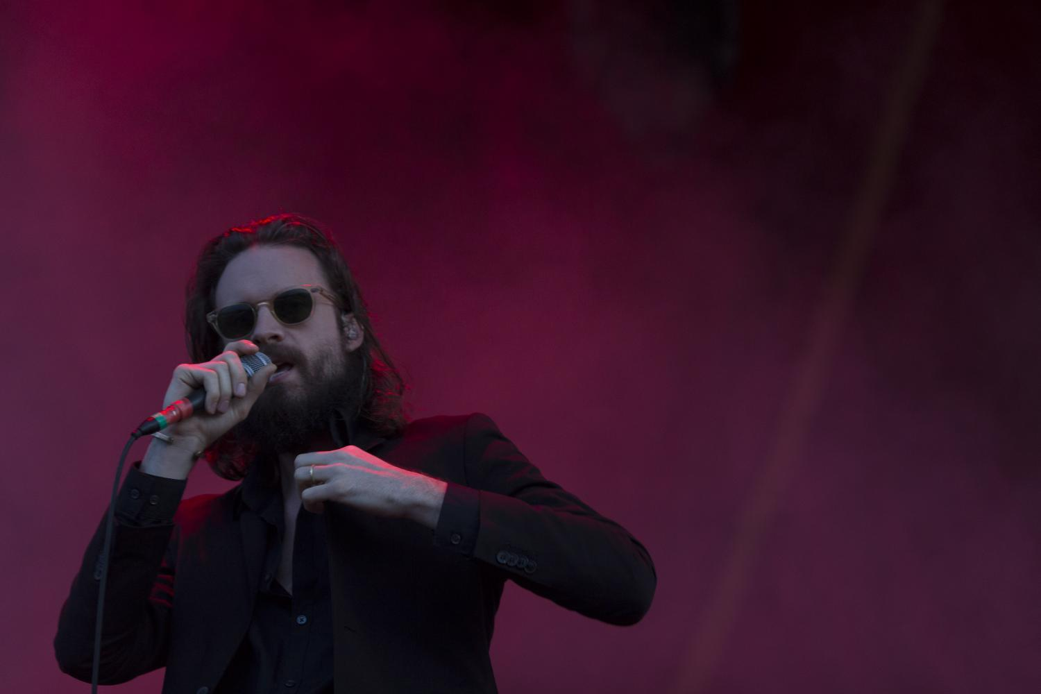 Father John Misty performing at øyafestivalen.