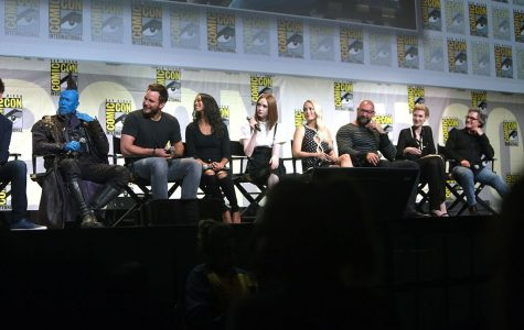 The Guardians of the Galaxy cast during the 2016 San Diego Comic Convention.