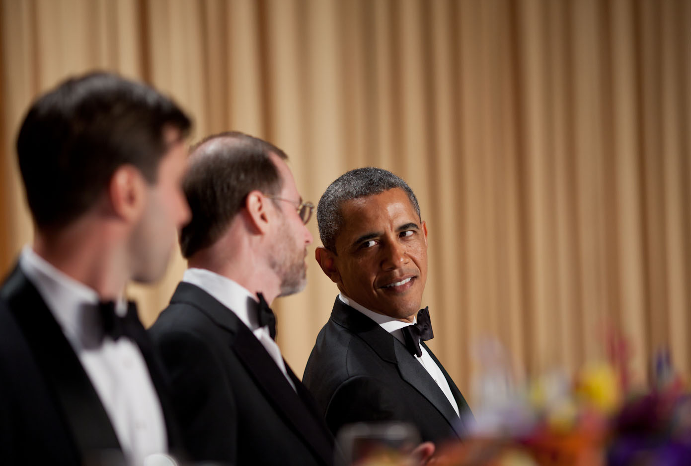 President Barack Obama attends the White House Correspondents' Association Dinner at the Washington Hilton Hotel in Washington, D.C., April 28, 2012. (Official White House Photo by Lawrence Jackson)