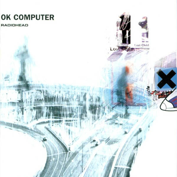The album,  OK Computer's, very distinct cover.