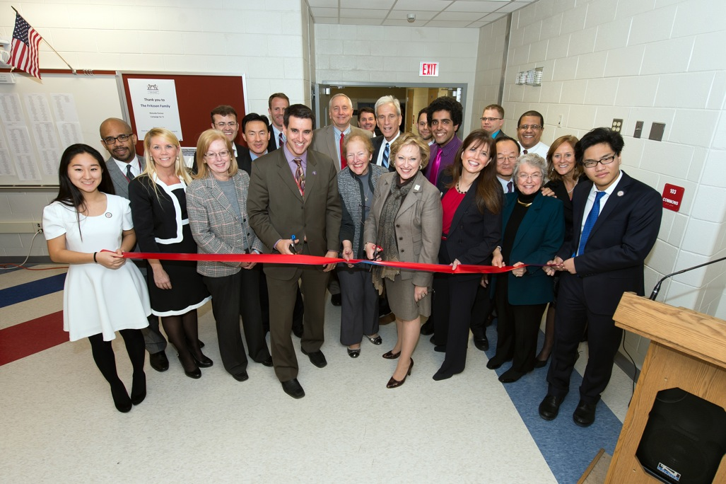Dr. Glazer opens a new Humanities wing of the school during his time as principal while renovation was underway.