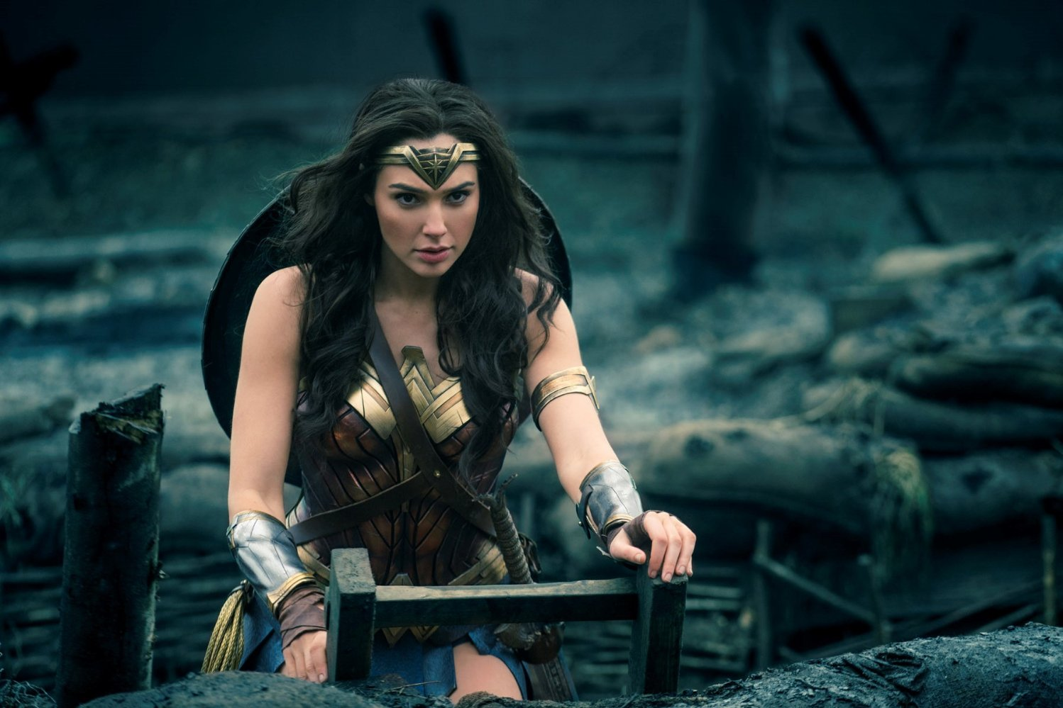 Diana+%28Gadot%29+enters+No+Man%27s+Land+in+%22Wonder+Woman.%22+The+film+was+released+on+June+2.