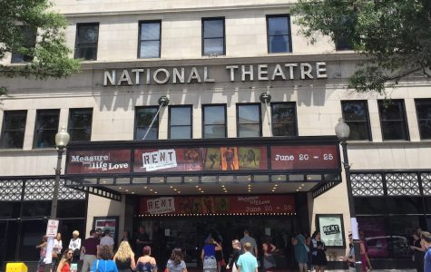 Attendees enter the National Theater for the June 25 matinee show.