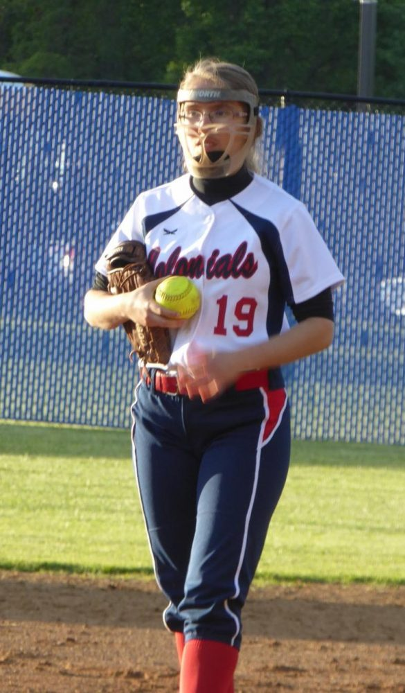 Zavela prepares to pitch at a home game against Marshall High School.