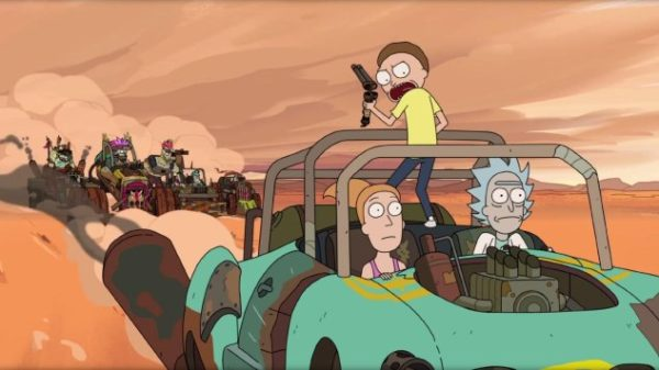 Rick and Morty end up in a post-apocalyptic world in