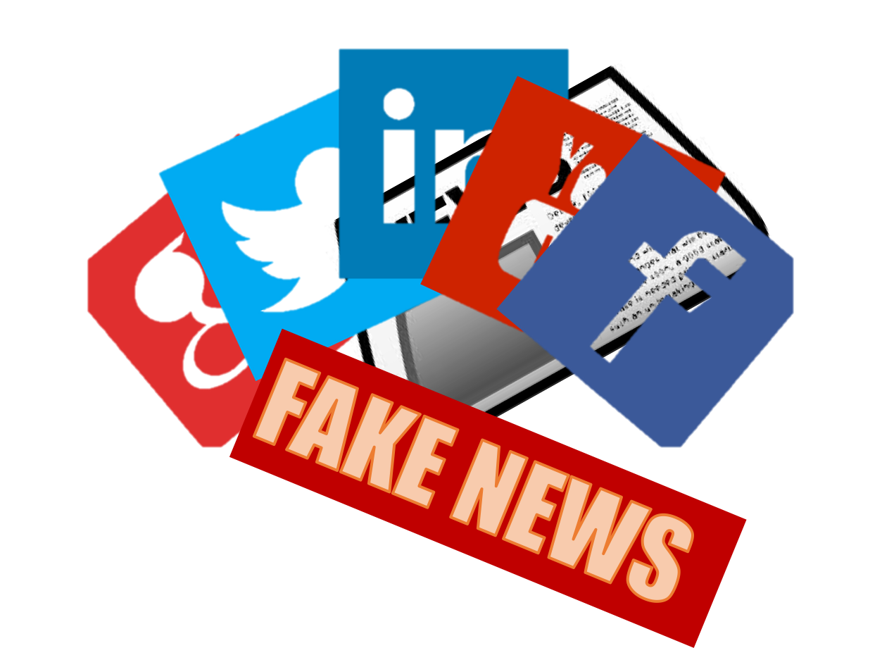 Fake news is becoming more prevalent throughout social media, and it is important to be able to recognize it, and stop the spread of it.  Photo courtesy of openclipart.org and dharmanation.org