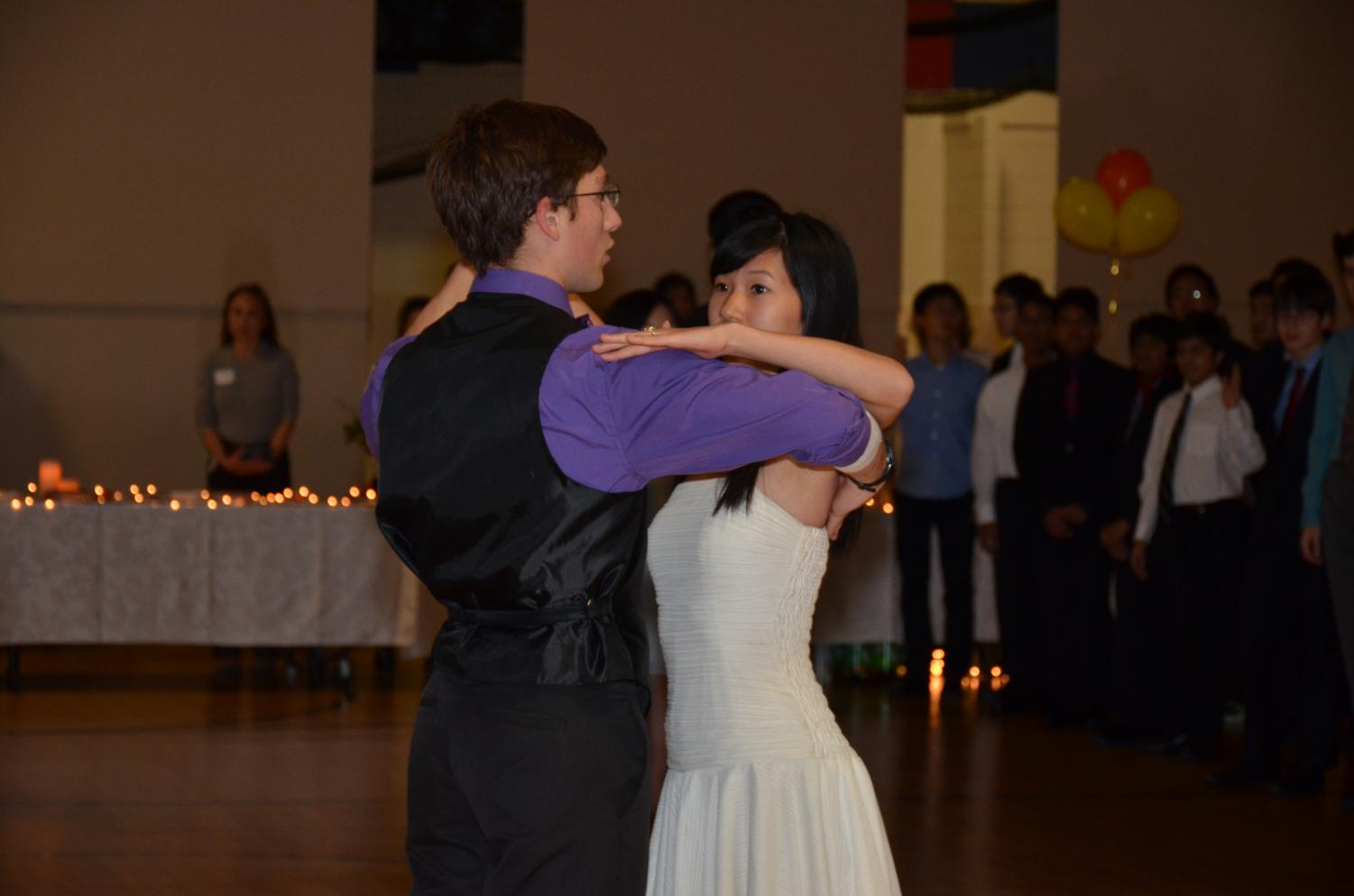 The tranquil atmosphere suffused with the strums and plucks of the orchestra prompted senior Max Judish to waltz alongside Class of 2016 graduate Andrea Tse at Nov. 17's annual Viennese Ball. Despite the greater entree fee, hundreds arrived to savor the melodic arrangements performed by students, where attendees danced away their stress and troubles through mesmerizing music.