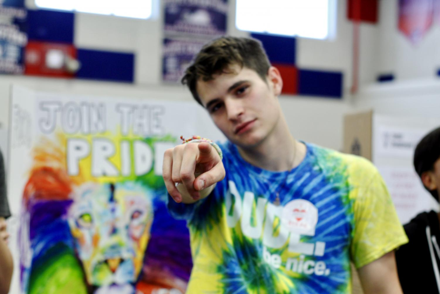 Senior%2C+Luc+Sequeira%2C+shows+us+his+dance+moves+while+promoting+the+GSA.