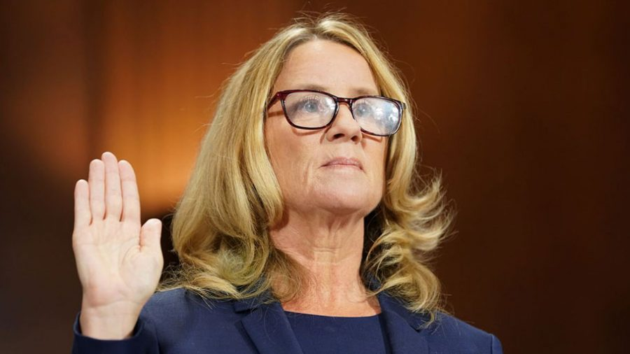 Photo courtesy of www. esquire.com.  Dr. Ford testifies before the Senate Judiciary Committee.