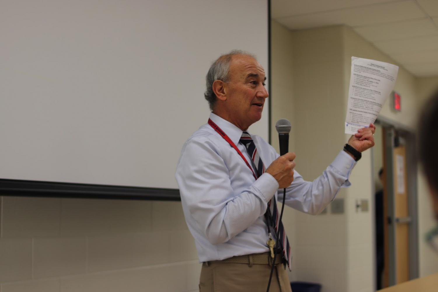On Oct. 24, Alfred Lampazzi presented to underclassmen and juniors on prospective summer internship programs within the VA region and how to be a successful candidate in a contentious application process. Despite student's occupied eighth period schedules, well over 200 individuals attended the interest meeting over the course of two blocks and acquired insight on how to be an active internship seeker.