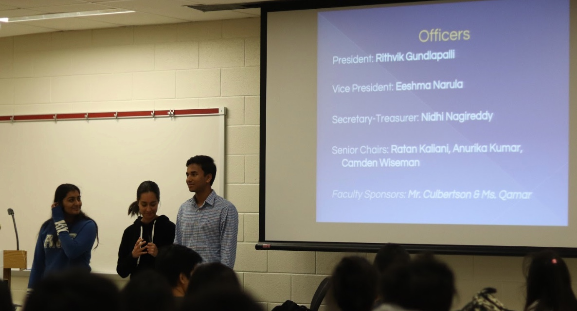During the information session, seniors Anurika Kumar, Eeshma Narula, and Rithvik Gundlapalli, discussed NHS officer positions and responsibilities, as well as the application process for this year.
