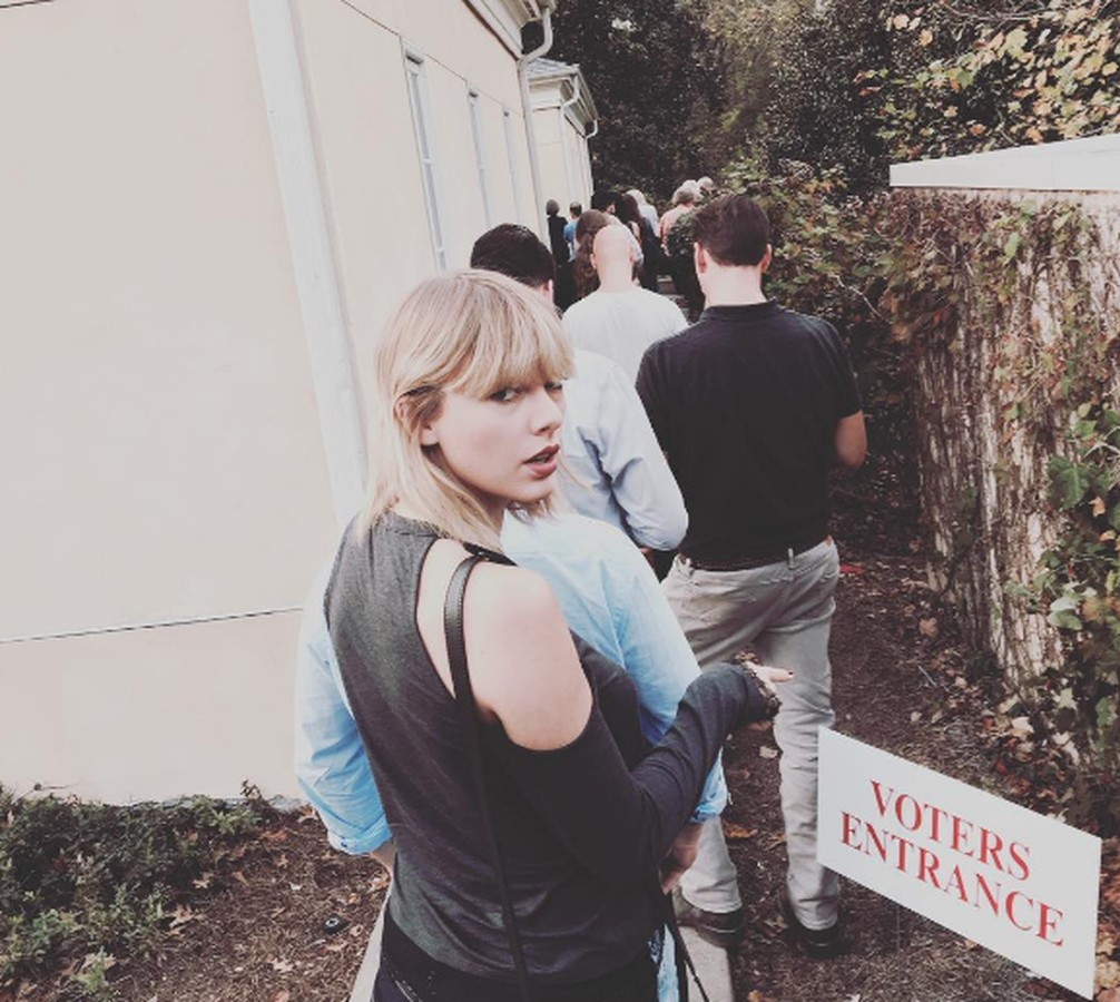 Taylor Swift encourages her fan-base to go to the polls. Photo courtesy of @taylorswift via Instagram.