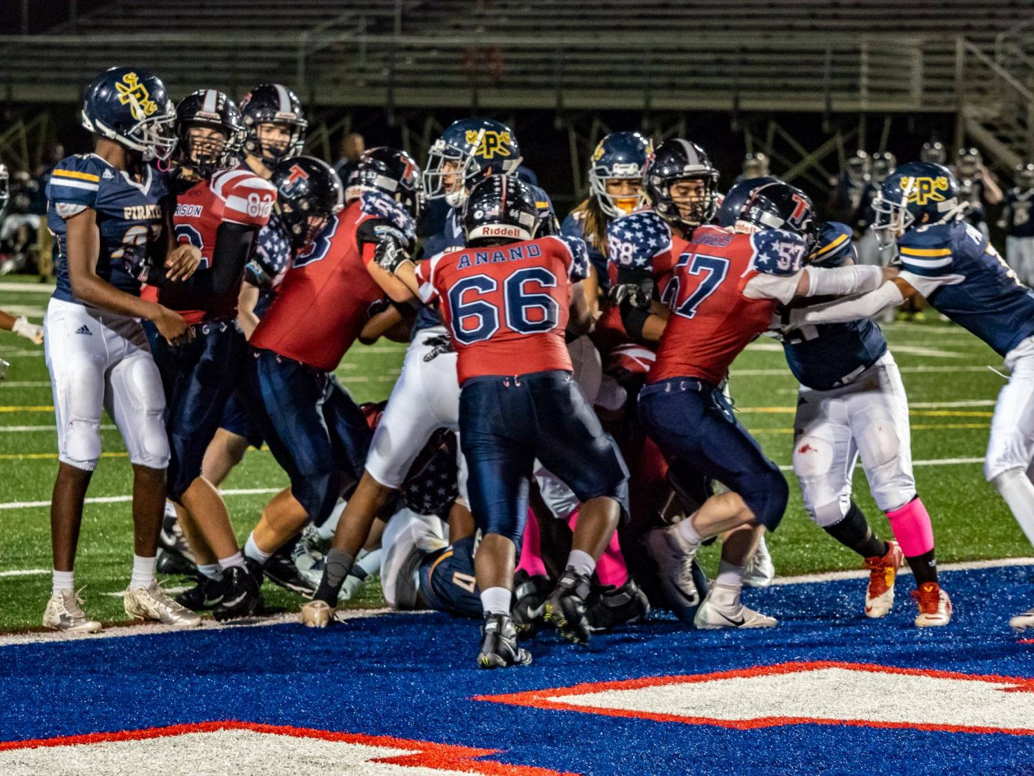 The Colonials score the winning touchdown in double overtime