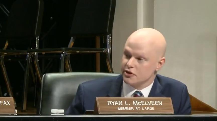 Ryan+McElveen+proposes+the+resolution.+Courtesy+of+%40RyanLMcElveen+on+Twitter.
