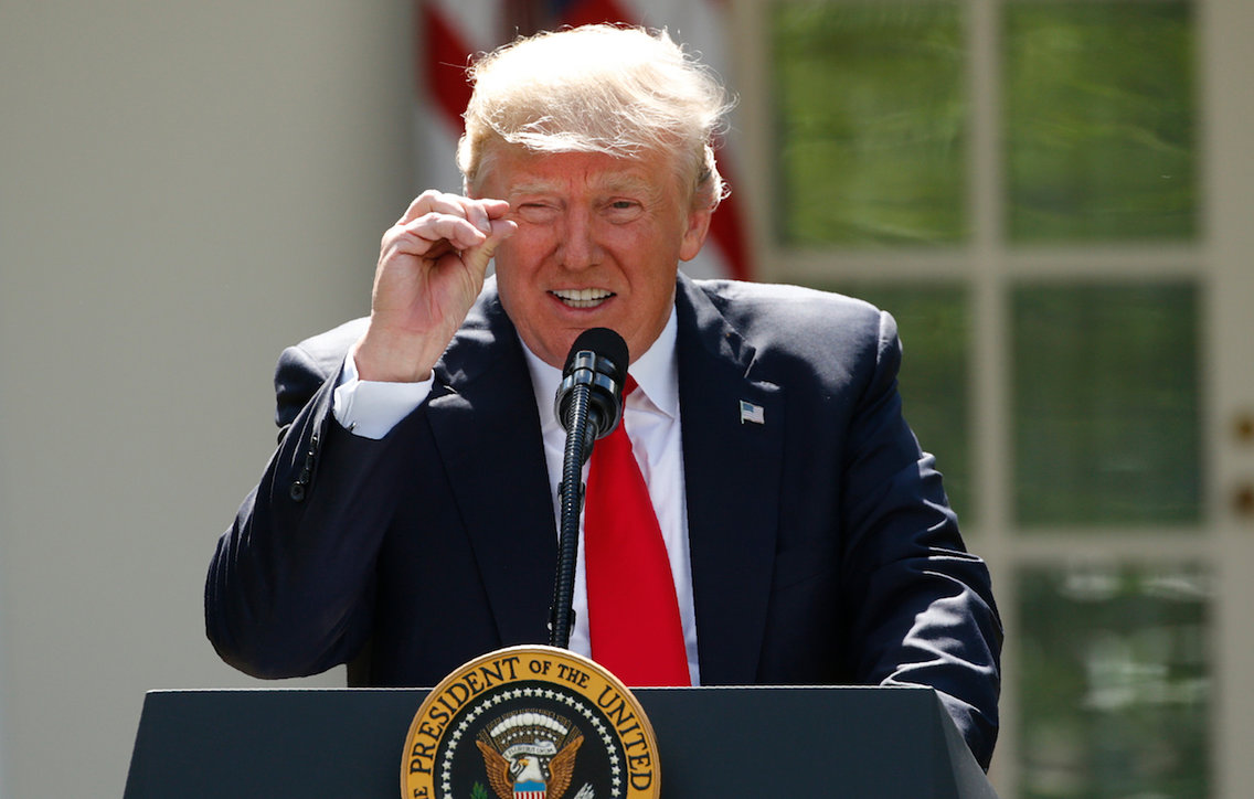 Trump announces withdrawl from Paris Climate Accord in June 2017.
