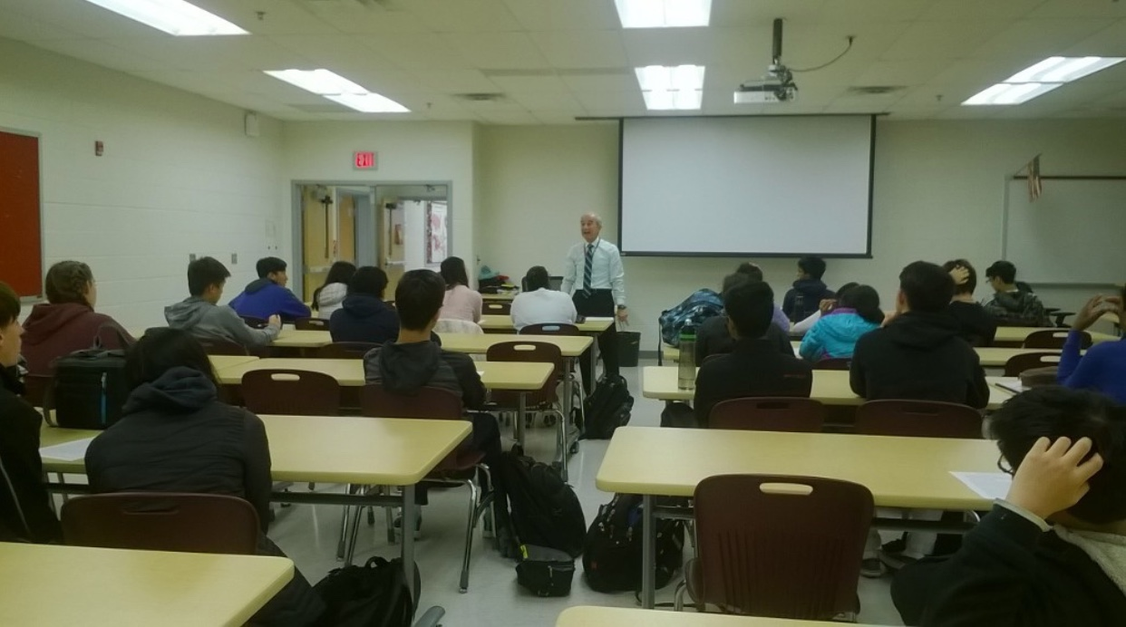 Director of Mentorship, Mr. Alfred Lampazzi, hosted two mentorship interest sessions on Wednesday, November 14, to aspiring mentorship students.