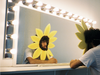 """The song cover for """"Better To Lie"""" featuring Swae Lee and Jesse depicts Benny Blanco himself dressed as a sad sunflower."""