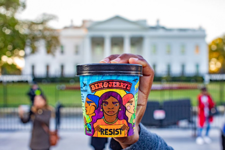 Pecan Resist, Ben and Jerry's newly released ice cream flavor, brings sweetness and social justice all in one political pint. Photo courtesy of Ben and Jerry's.