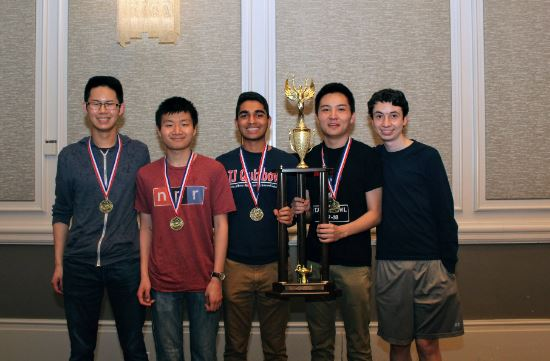 Jefferson's quiz bowl team won the PACE National Scholastic Championship in 2018. Photo courtesy of PACE.