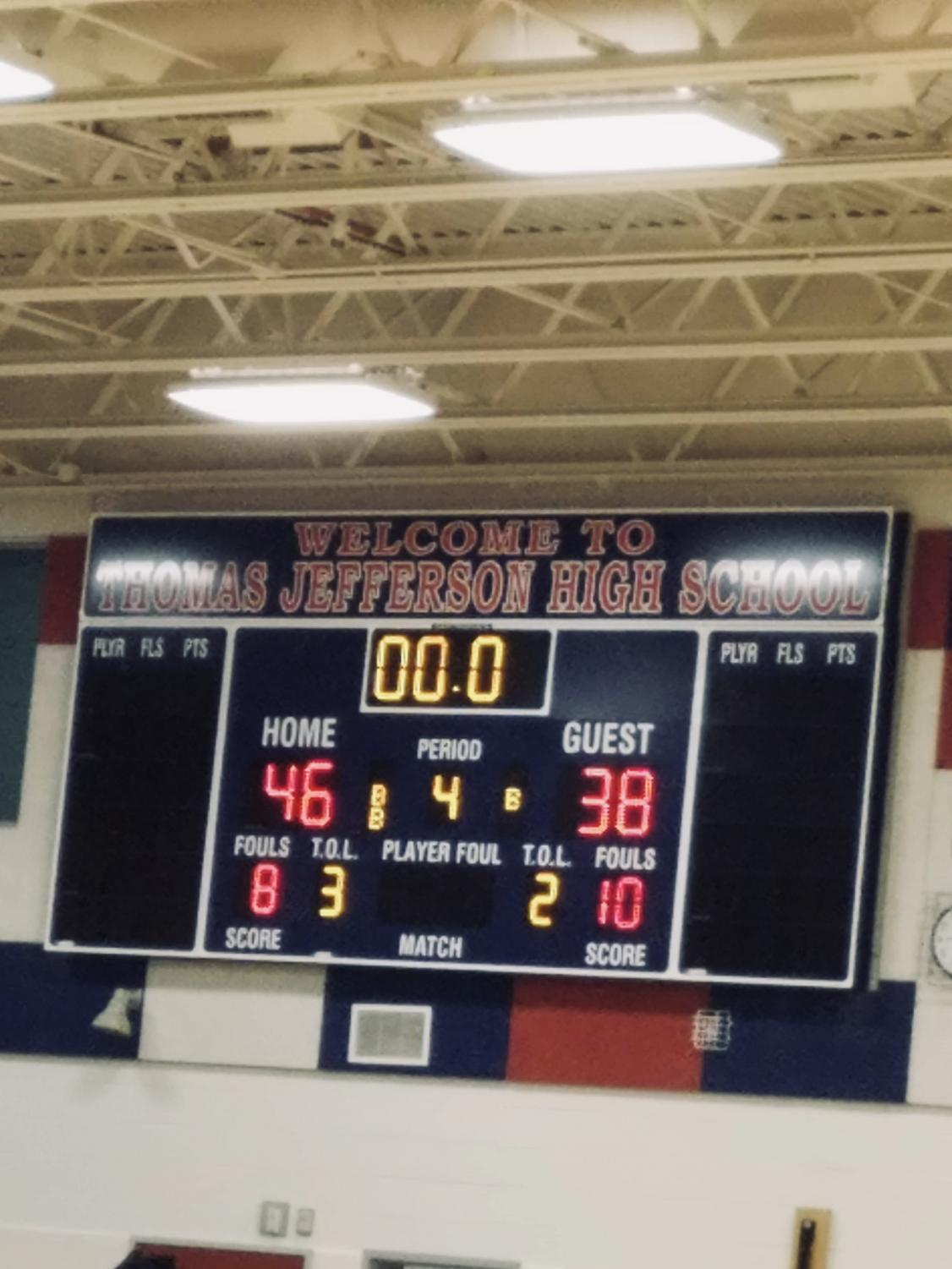 A+look+at+the+final+score+between+Jefferson+and+Wakefield+Girls+Varsity+Basketball.+The+game+was+very+close%2C+but+Jefferson+maintained+a+lead+throughout.