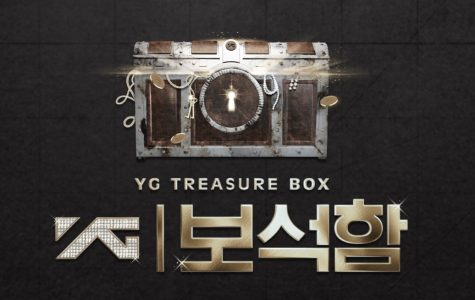 Photo courtesy of www.vlive.tv. Promotional poster for the reality survival show YG Treasure Box, which aired from Nov. 16, 2018 to Jan. 18, 2019 to debut YG Entertainment's next K-pop boy group.