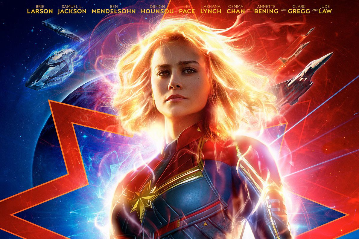 Brie Larson as Captain Marvel in official release poster