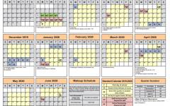 The Fairfax County Public School 2019 - 2020 calendar.