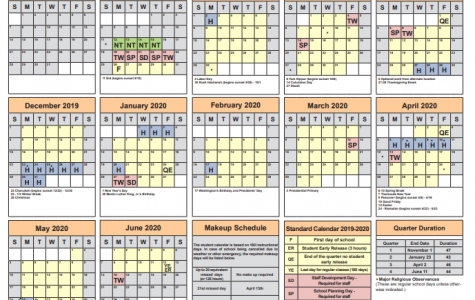 Changes made to Fairfax County Public Schools' 2019-2020 Calendar