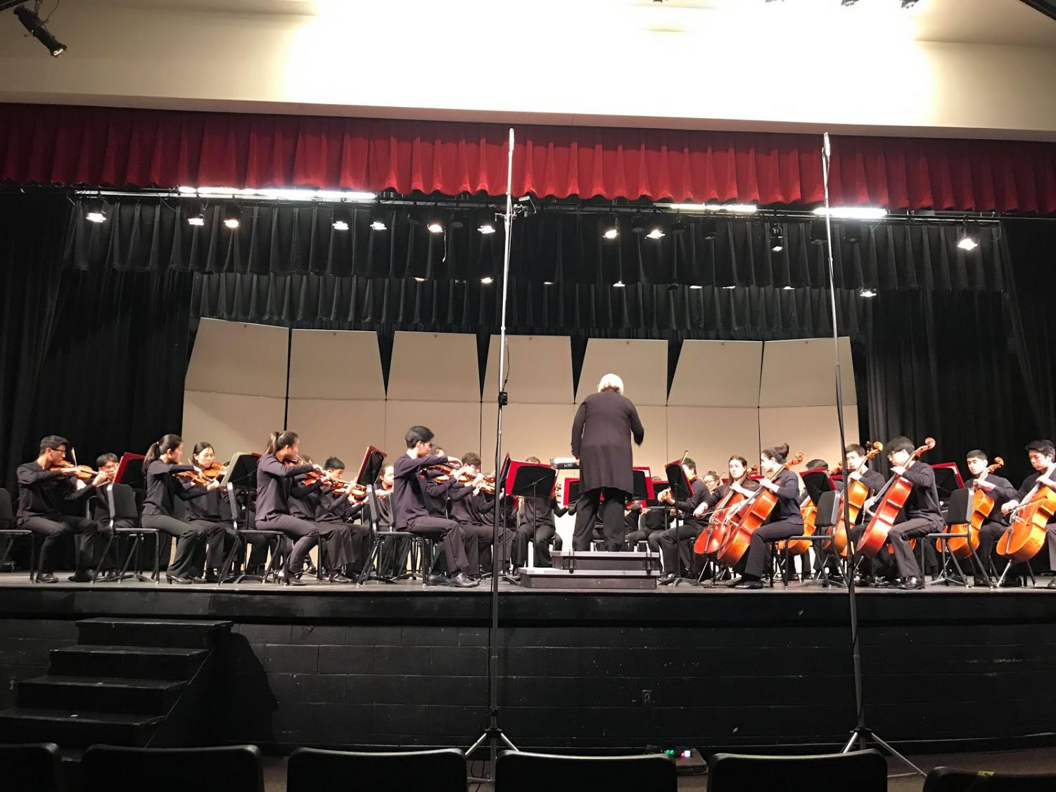 Directed by Allison Bailey, the Jefferson Symphonic Orchestra played at grade 6, the highest level possible at the District Assessments. Photo courtesy of Jane Cha.