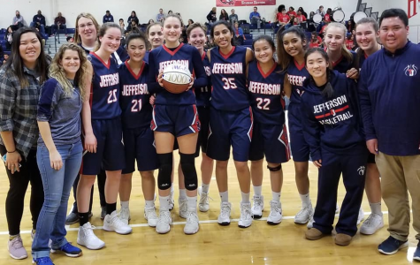 Girls varsity basketball team gains new record win