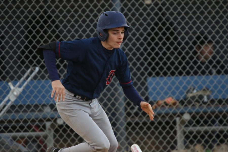 JV+baseball+player+Ryan+Dwyer+attempts+a+bunt.+Although+Jefferson+started+out+strong+in+the+first+inning+with+a+2+point+lead+ahead+of+home+team+Washington-Lee+High+School%2C+the+opposition+caught+up%2C+adding+more+pressure+to+the+game.+%22All+of+us+played+a+good+game.+We+got+off+the+bus+ready+to+play%2C+and+we+executed+when+the+time+came+around.%22+Dwyer+said.