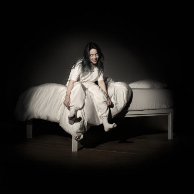 "The album cover of ""WHEN WE ALL FALL ASLEEP, WHERE DO WE GO?"" by Billie Eilish."