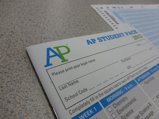 Pictured is one of the papers that students received at the Pre-Registration session - the AP student packet. Photo courtesy of Warrior Record Online.