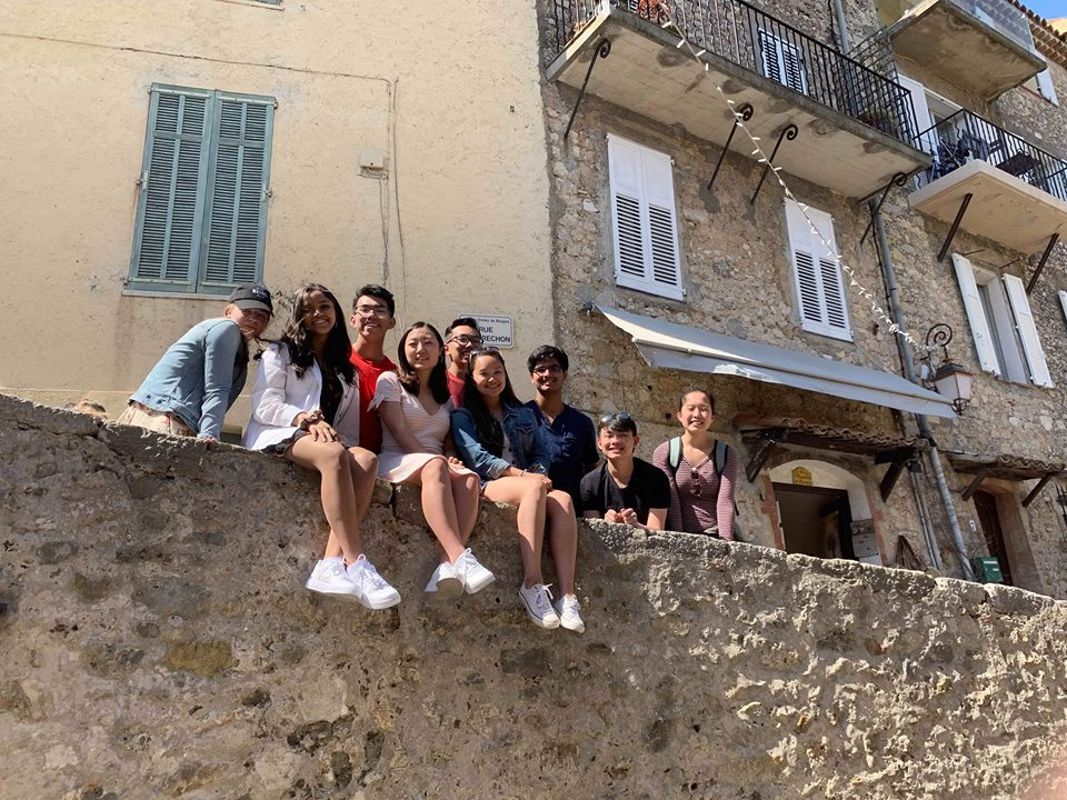 Jefferson students spend the day in Nice, France during Spring Break.