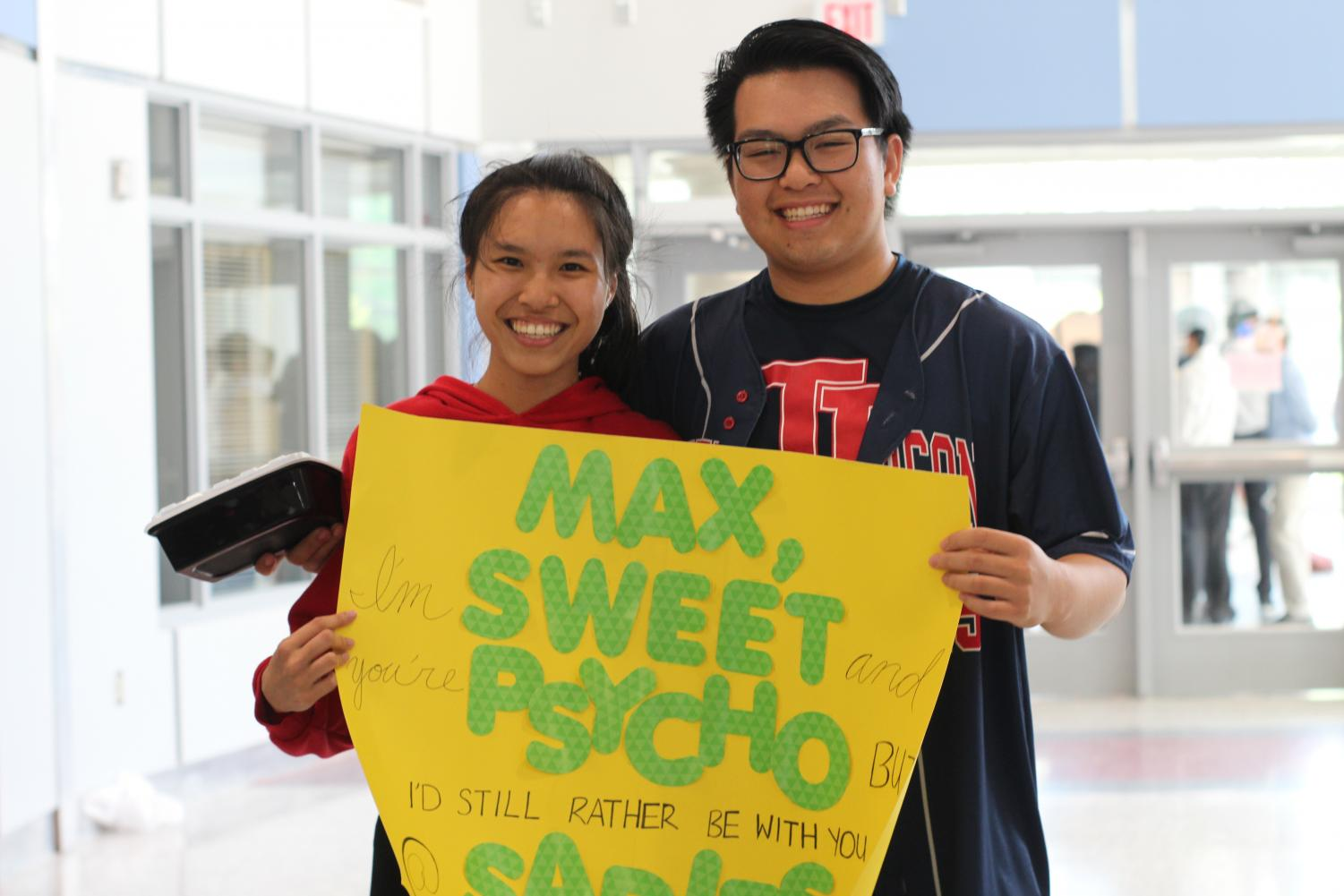 Senior Wan Li asks Maxwell Lee in a dance performance to the song Sweet but Psycho by Ava Max.