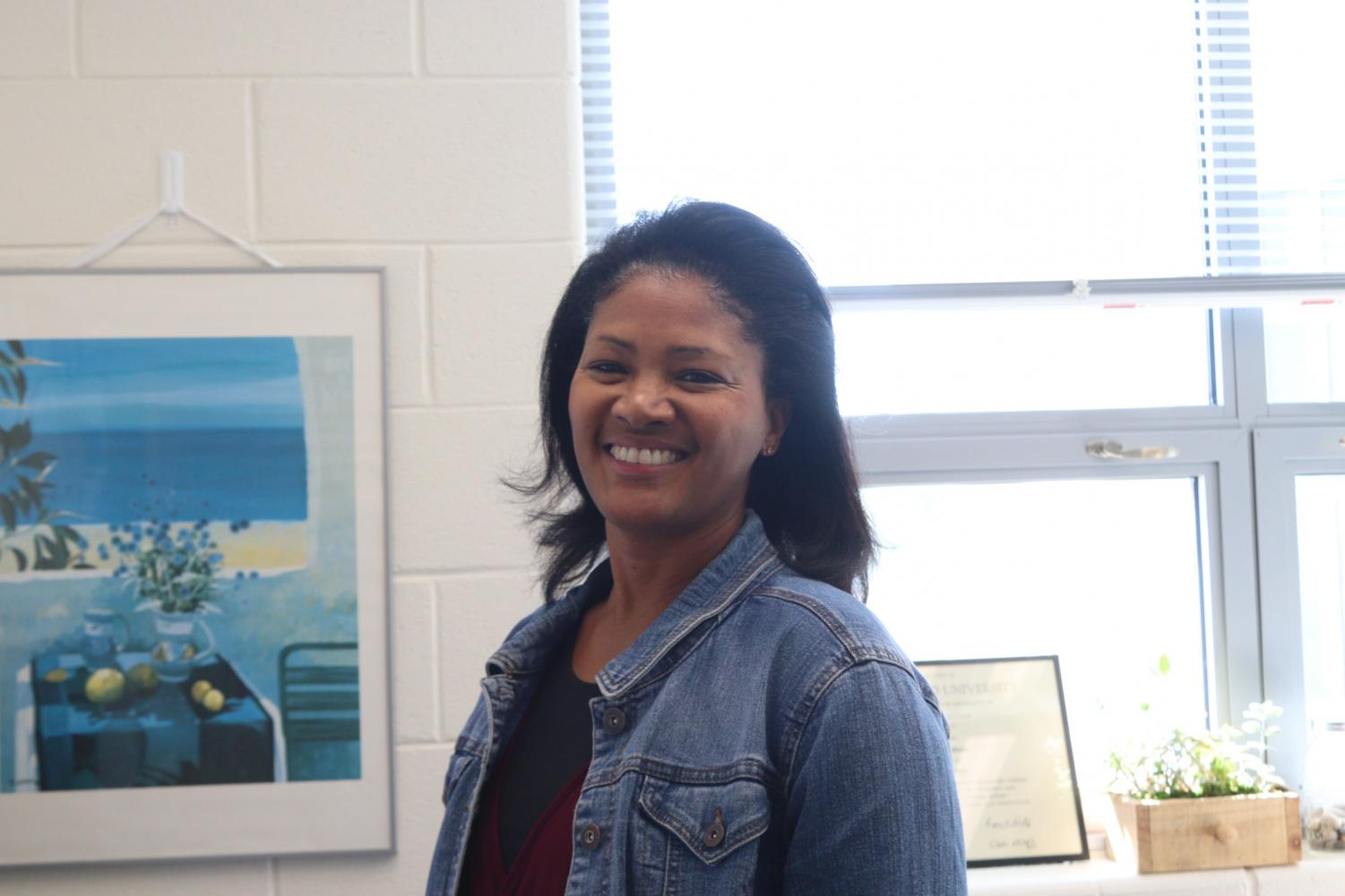 """Mrs. Phelps is a welcoming presence for any students who need advice or a person to talk to. She lacked guidance from her high school counselor and aims to use her experience to help others. """"I just have a love of helping people,"""" Phelps said."""