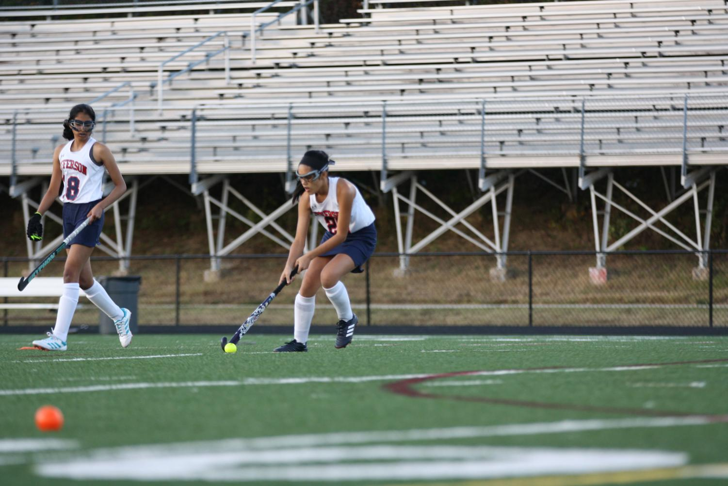 """Jefferson players warmed up and practiced for an hour before the game even began.. """"I am proud of my players, each and every game. They go out there and give it their all, regardless of the opponent we are competing against,""""  said Coach Brittany."""