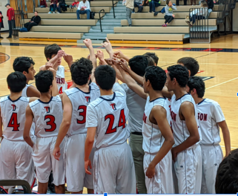 "The boys gather around to recite their chant after what would be the final timeout of the game. ""We should take this last game and use it to improve by never giving up and [continuing to] persevere,"" Gundu said. The basketball season lasts until mid-February, so the team will be able to apply what they learned here for the majority of the season."